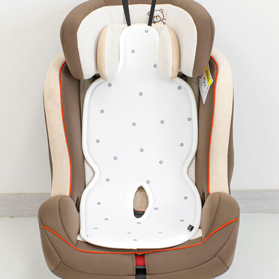 Modern White Dot Ice Cool Car Seat Liner BBN1079