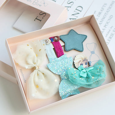 Winter Princess Hair Clips Set (Set of 6) JR1004