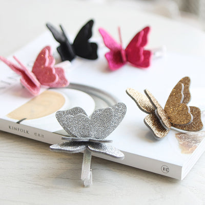 Double Butterfly Hair Clips Set (Set of 5) JR1009