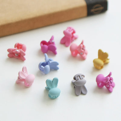 Pastel Mini Bunny Hair Clips (Set of 10) JR1011