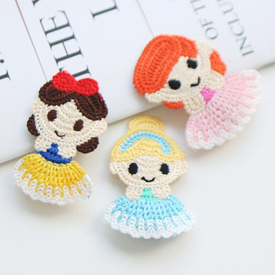 Knitted Princesses Hair Clips Set (Set of 3) JR1020