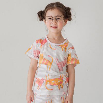 Chic Cat Short Sleeves Set K1232 (Cooling)