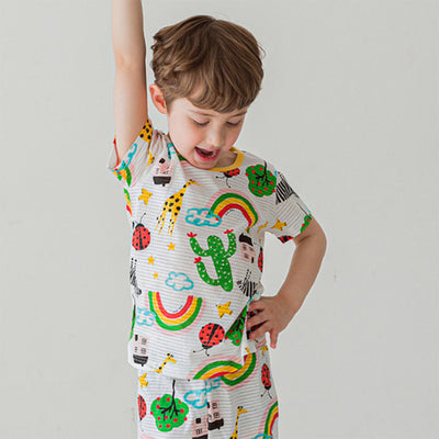 Happy Day Short Sleeves Set K1237 (Cooling)