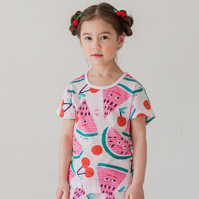 Watermelon Cherry Short Sleeves Set K1238 (Cooling)