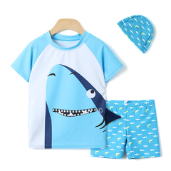 3-pc Summer Shark Rash Guard Set OZ1022 - Preorder @ 20% Off