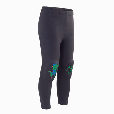 Charcoal Croco Kids Knee Cushion Protective Leggings OZ1038