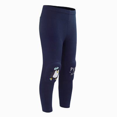 Navy Penguin Kids Knee Cushion Protective Leggings OZ1039