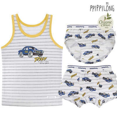 Organic Speedy Car Underwear Set PP1002