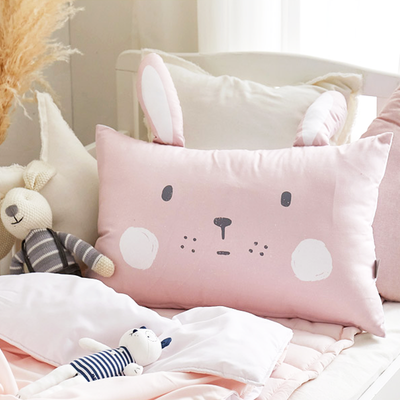 Pink Cony Microfibre Toddler & Kids Animal Pillow - Minitotz