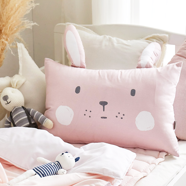 Pink Cony Microfibre Toddler & Kids Animal Pillow - Preorder @ 20% off