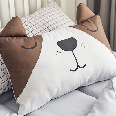 Tommy Microfibre Toddler & Kids Animal Pillow - Minitotz