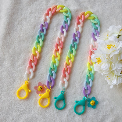 Rainbow Flower Chunky Mask Chain T1001