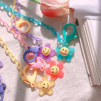 Smiley Flower Mask Chain T1002