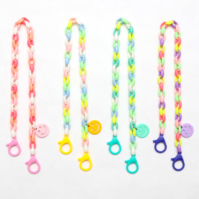 Rainbow Smiley Mask Chain T1007