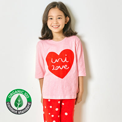 Organic Red Dot Heart 3/4 Set U1656
