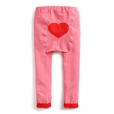 Gogo Pink Heart Soft Stretchy Leggings - V1208 - Minitotz