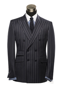 Duke of Clarence Navy Stripe Suit