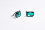 High Green Tourmaline Cufflinks