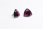 Purple Charoite Triangle Cufflinks