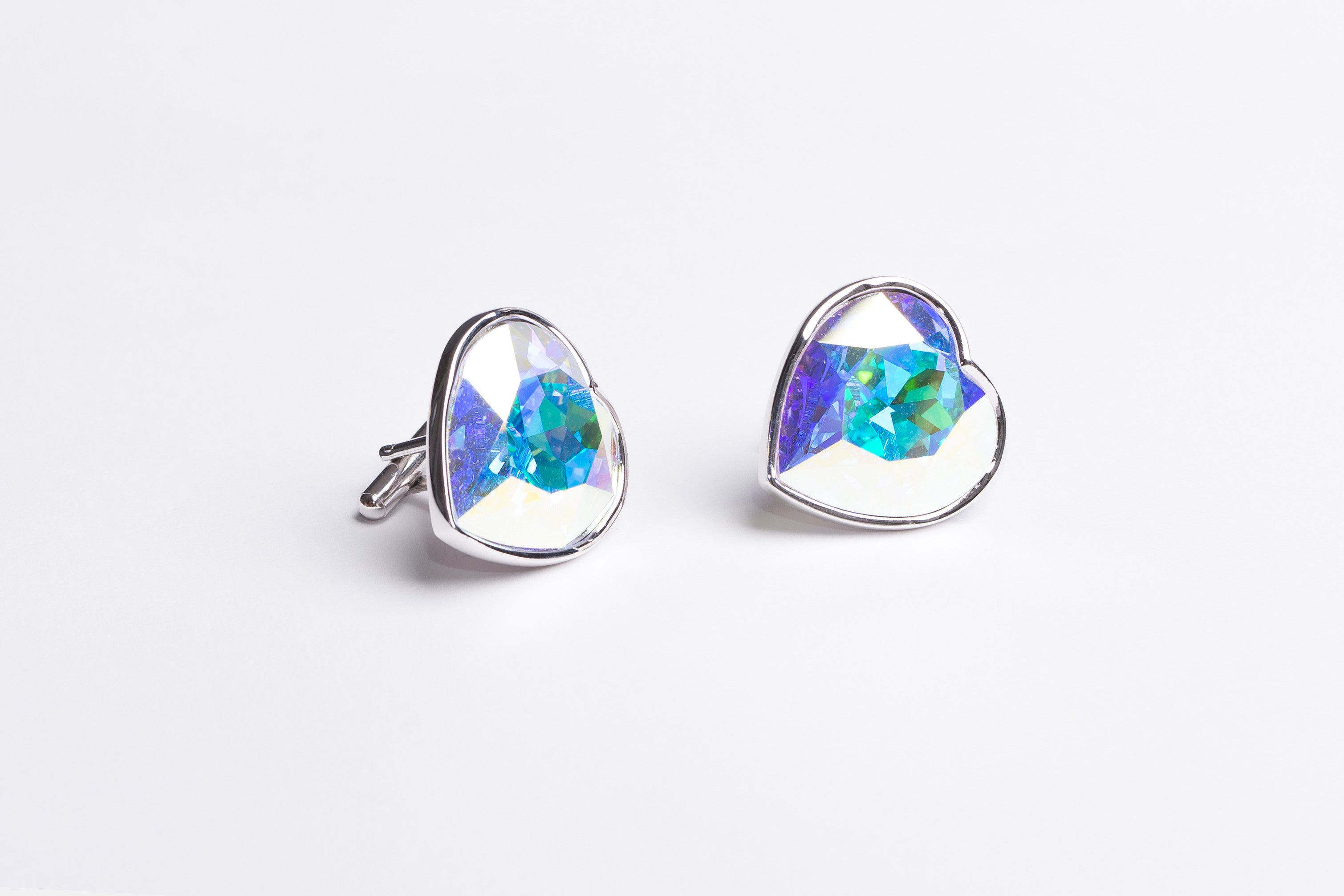 Tanzanite Blue Heart Shaped Cufflinks