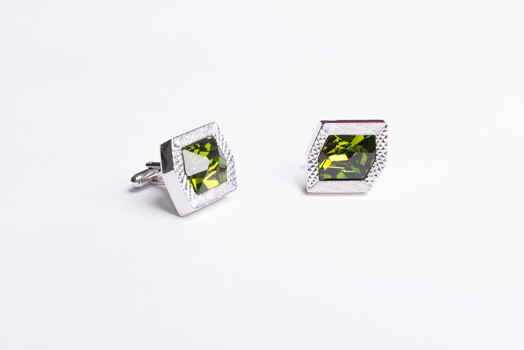 Peridot Green Cufflinks