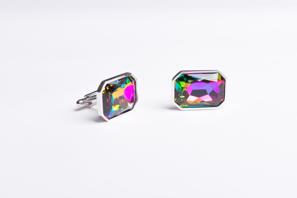 Ammolite Colorful Cufflinks