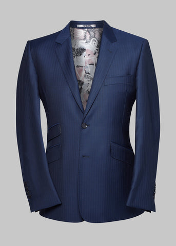 The Addison Royal Blue with Textured Stripe