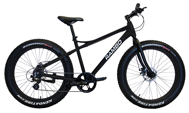 Rent our RAMBO Electric or Pedal Fat Tire Bike