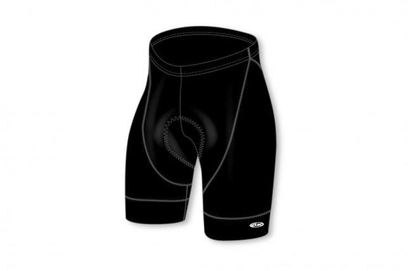 Athletic Knit Black Padded Cycling Shorts