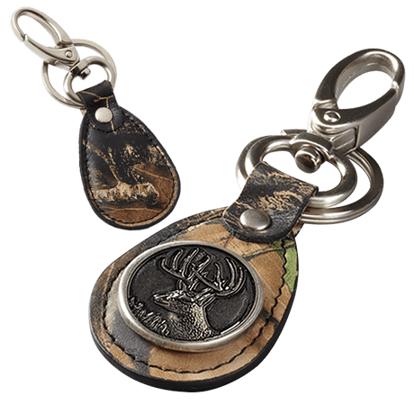 Webers Camo Leather Key Ring