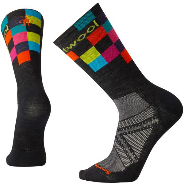 Smartwool Men's PhD® Cycle Ultra Light Logo Crew Socks