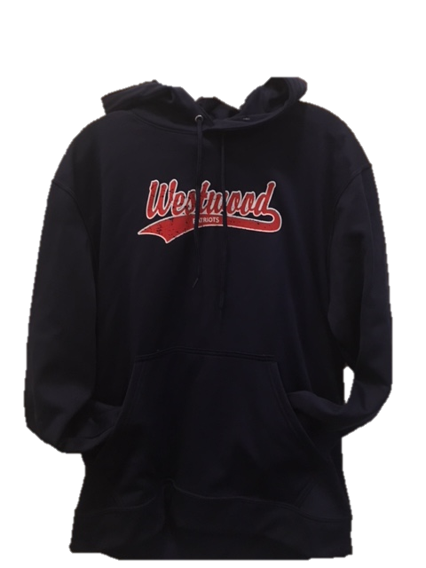 Augusta Wicking Fleece Patriots Hoodie