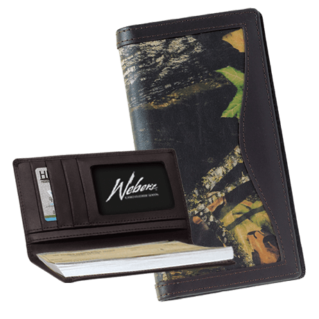 Webers Combo Leather Checkbook Cover