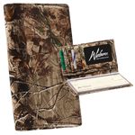 Webers Camo Leather Checkbook Cover