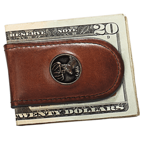 Webers Premium Leather Money Clip