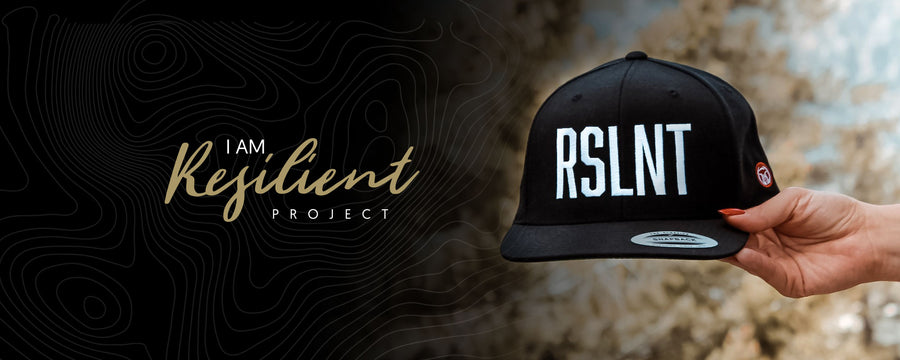 I Am Resilient Project. RSLNT snapback hat.
