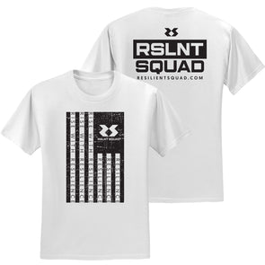 Rise With Resilience Flag Tee - White