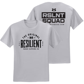 Resilient Squad Clothing Co. Tee - Silver
