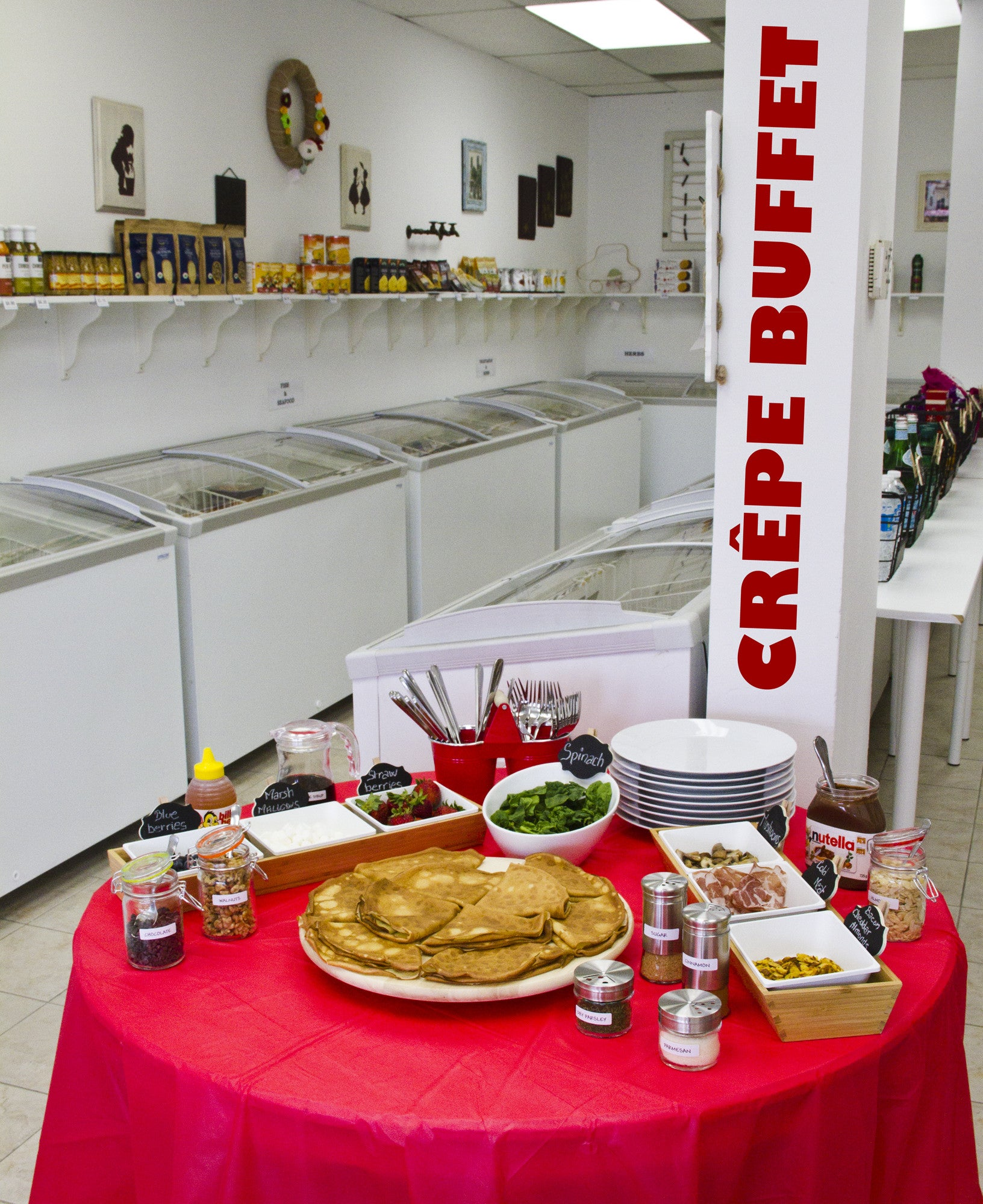 A Brand New and Affordable Crêpe Buffet!