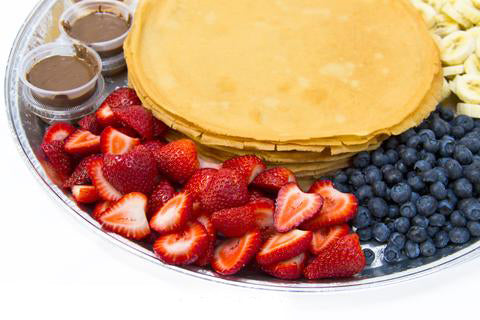 Platter - French Crêpes with Fruits & Spreads