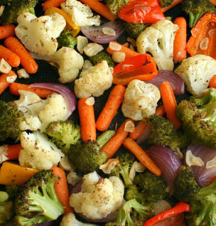 Side Order Tray - Baked Mixed Vegetables with Fresh Herbs from Italy