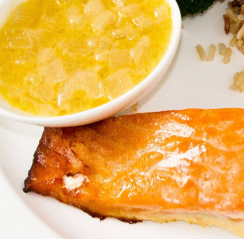 Hot Tray - Salmon with Sauce au Beurre Blanc