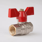 "T-Handle Full Flow Ball Valve 3/8"" Female/Female (Front)"