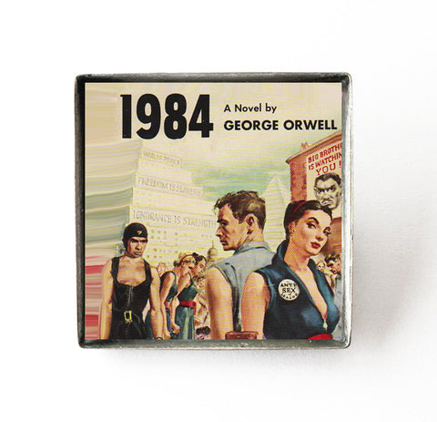 1984 - George Orwell - Book Cover Art Pin