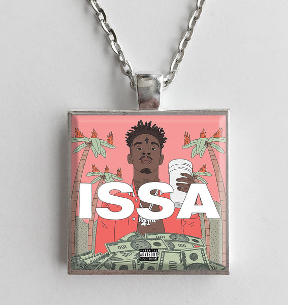 21 Savage - Issa Album - Album Cover Art Pendant Necklace - Hollee