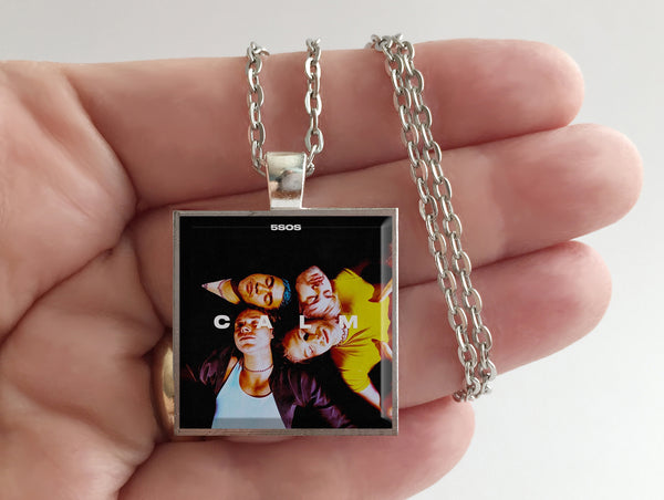 5SOS 5 Seconds of Summer - Calm - Album Cover Art Pendant Necklace - Hollee