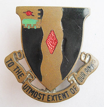 Vintage U.S. 60th Infantry Regiment Brass Enamel Military Pin - Hollee