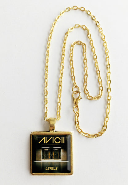 Avicii - Levels - Album Cover Art Pendant Necklace - Hollee