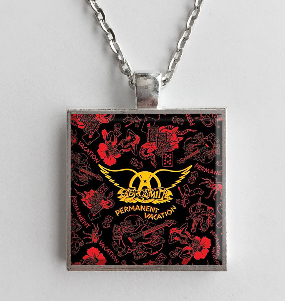 Aerosmith - Permanent Vacation - Album Cover Art Pendant Necklace