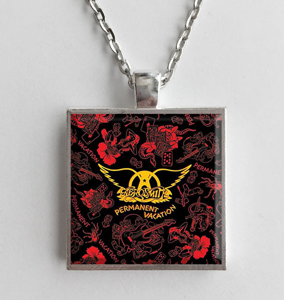 Aerosmith - Permanent Vacation - Album Cover Art Pendant Necklace - Hollee